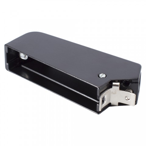 SIEMENS Case, Metal sleeve housing angled for Male / female multipin clip connector 30-pole and 39-pole, black
