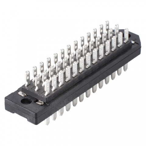 Male multipin clip connector DIN 41622, 39-pole , metal-, Soldering-male connector, straight