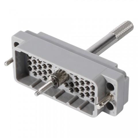 EDAC EDAC, 56-pol , Kunststoff-Einbaustecker, gerade/Kontaktträger mit Schraube, grau