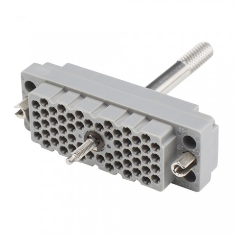 EDAC EDAC, 56-pole , plastic-female connector, straight/Contact strip with screw, grey