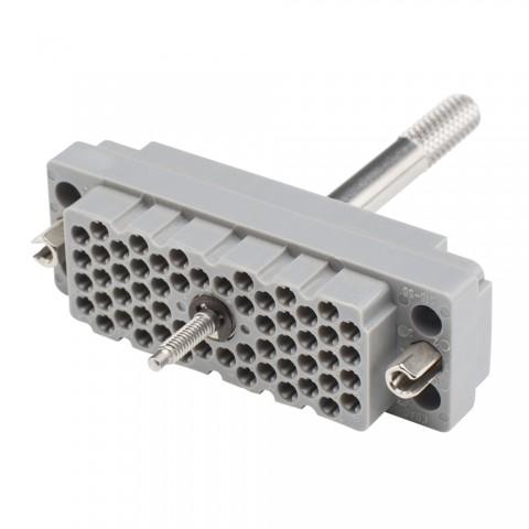 EDAC EDAC, 56-pol , Kunststoff-Einbaubuchse, gerade/Kontaktträger mit Schraube, grau