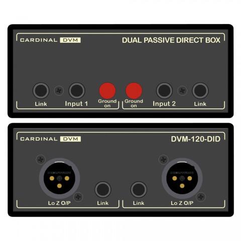 CARDINAL DVM Dual DI-Box BIG BRICK, Professional, B x H x T: 120 mm x 51 mm x 260 mm