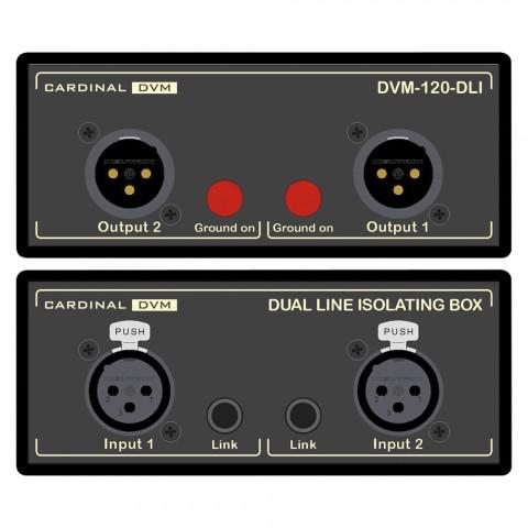 CARDINAL DVM Dual Line-Übertrager, Professional, B x H x T: 120 mm x 51 mm x 260 mm
