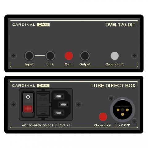 CARDINAL DVM Röhren-DI-BOX, Professional, B x H x T: 120 mm x 51 mm x 260 mm