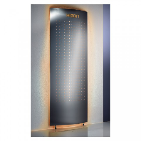 HICON Wall display 1-sided stainless steel, stainless steel, width: 800 mm, height: 1850 mm, stainless steel