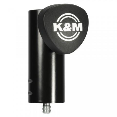 König & Meyer High stand adapter, PU: 1, length: 100 mm, black, Adjustable using clamping screw