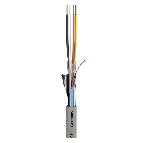 Telecommunication cable Logicable LG; PVC, flame-retardant; grey | 2 x 0,60 mm x number of pairs