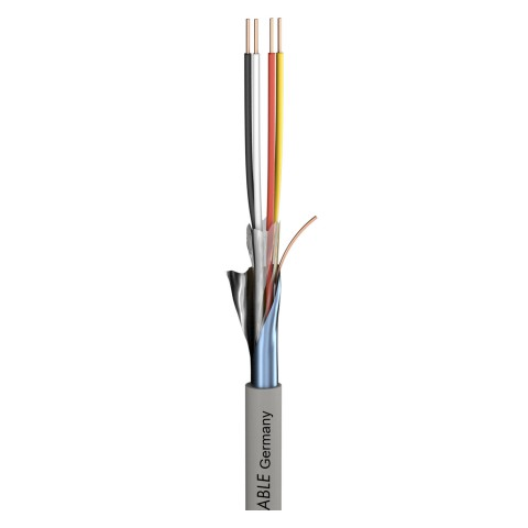 Telecommunication cable Logicable LG; PVC, flame-retardant; grey | 2 x 0,50 mm² x number of pairs
