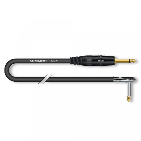 Instrument cable SC-Spirit BLACK ZILK, 1 x 0,25 mm² | jack / jack, HICON