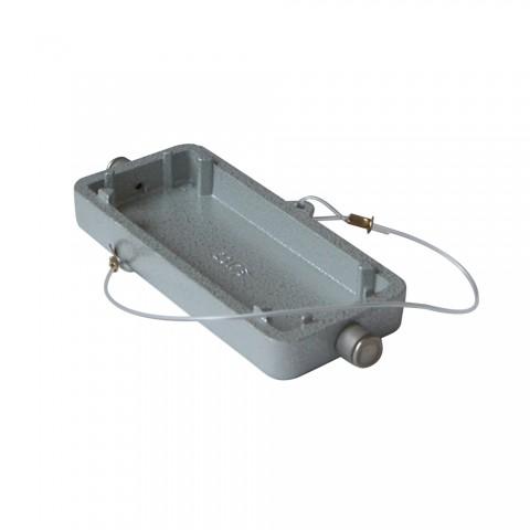 ILME  Rechteck-MP 06, Schutzdeckel mit Befestigungsseil, 2 Bolzen, grau