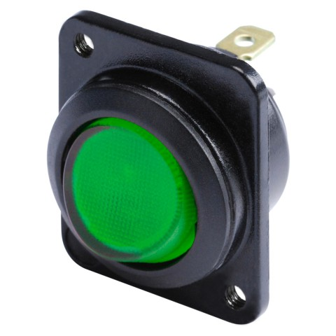 HICON Switch LED green, 1 pole on / off for SYS-series
