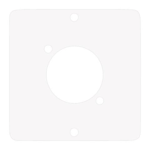 Modul mit 1 x D-Loch , Baugröße: 50x50 mm, Edelstahl, Farbe: reinweiß | W50W-FP-D