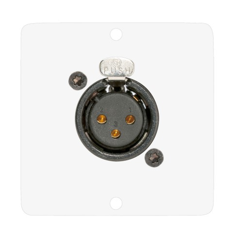 connection-modul 4-way button module, EIB / KNX with LED lighting, incl. ETS application, buttons & LED's freely allocatable via software, cabling via EIB / KNX bus terminals, scale: 50x50 mm, stainless steel, colour: pure white
