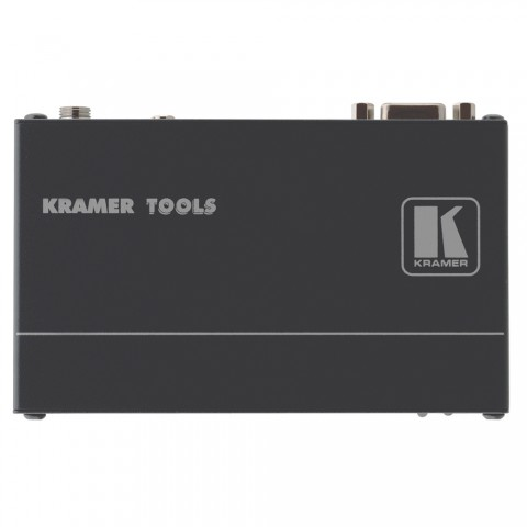 KRAMER , VGA + Audio Transmitter, IN: 3,5 mm Klinke (Audio)/Sub-D 15 HD (VGA) | OUT: RJ45