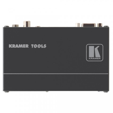 KRAMER , VGA + Audio + S/PDIF-Receiver, IN: RJ45 | OUT: Cinch (S/PDIF)/3,5 mm Klinke (Audio)/Sub-D 15 HD (VGA)