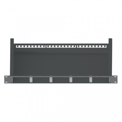 """19"""" Panel für 5 x SYFB21/SYCFB21-Bleche, 1 HE; Tiefe: 230 mm"""
