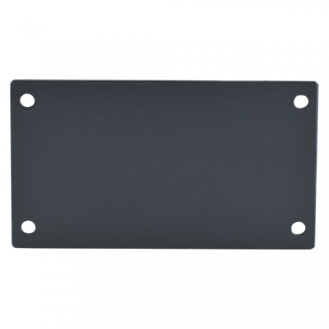 SYSBOXX SYSBOXX-MK II Side Panel Adapter Side plate adapter, 2 HE for SYSBOXX, galvanized sheet steel 2mm, colour: anthracite, RAL 7016, smooth matt