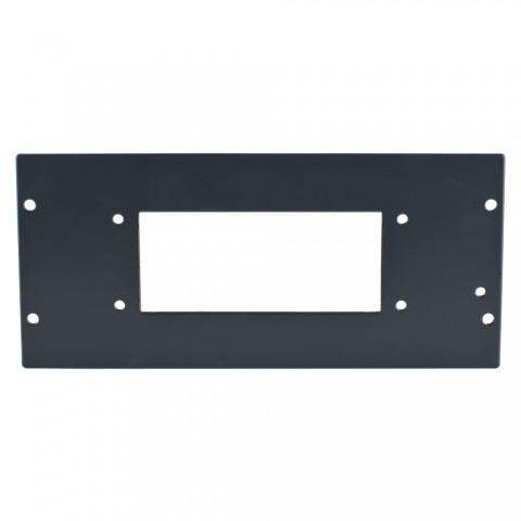 SYSBOXX Seitenblech Leerblech, 4 HE für SYSBOXX, Stahlblech 2mm verzinkt, Farbe: anthrazit, RAL 7016, glatt matt