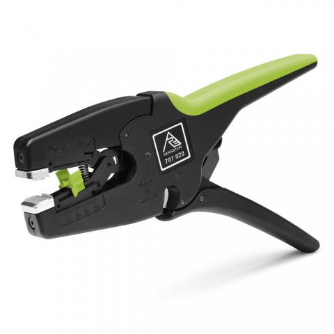 Stripping pliers, Wire strippers for wire and insulation with Ø 0,08 – 10,0 mm2 for flexible and solid wires, black