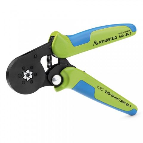 crimp pliers, Crimping tool for wire end ferrules, 6-edge crimping for 6-edge-crimping