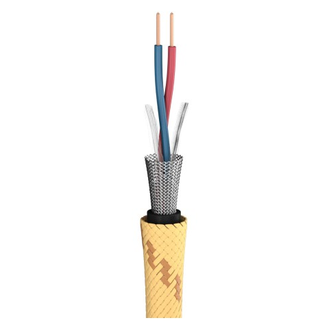 Mikrofonkabel Club Series MKII; 2 x 0,34 mm²; PVC Ø 6,50 mm; gelb-schwarz