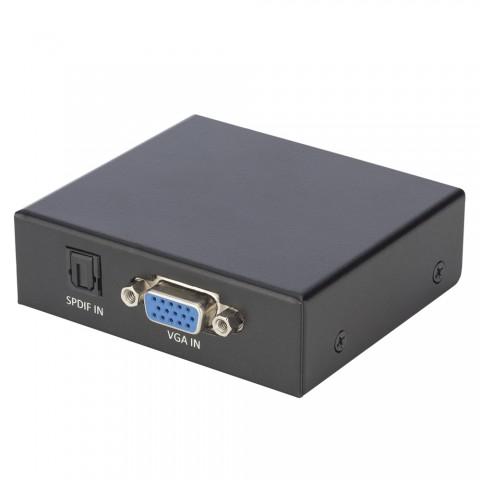 CARDINAL DVM HDMI Wandler (VGA) DVM-HDT-VAHD, IN: VGA/Audio (Stereo RCA+SPDIF) | OUT: HDMI