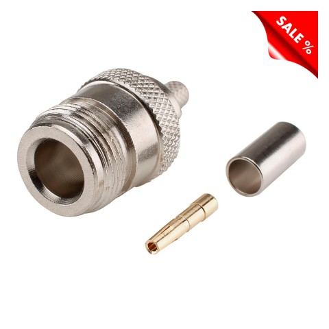 Telegärtner RG58 crimp-female connector, straight