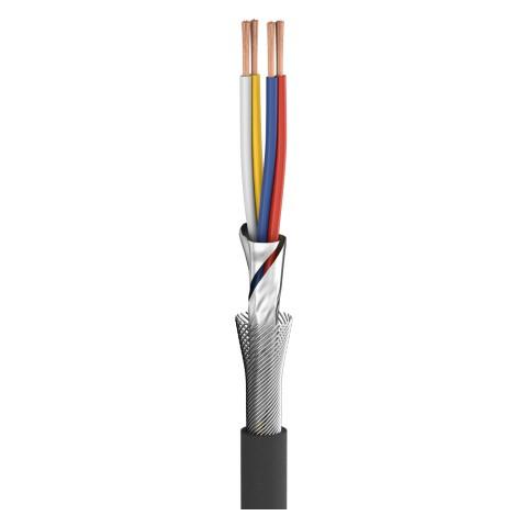 Mikrofonkabel SC-Square 4-Core MKII; 4 x 0,20 mm²; PVC Ø 6,50 mm; schwarz, ohne Aufdruck