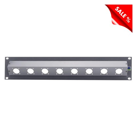 Sommer cable Audio-patch panel Triax-blank panel , 1 HE, 4 mm powder-coated aluminum, colour: graphite gray RAL 7024