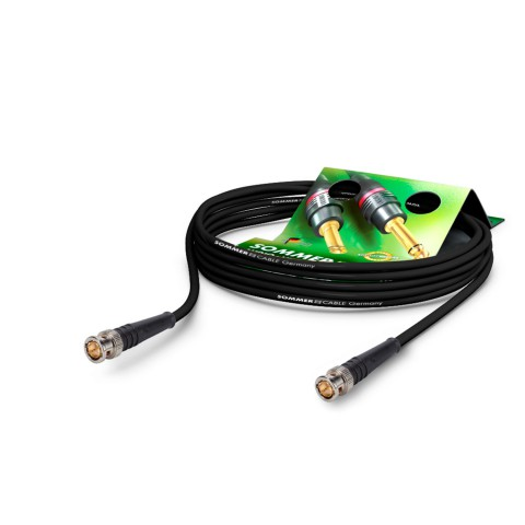 Video-Patchkabel HD-SDI (HDTV) SC-Vector 0.8/3.7, 1  x  0,80 mm² | BNC / BNC, HICON
