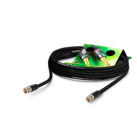 Video-Patchkabel HD-SDI (HDTV) SC-Vector 0.8/3.7, 1  x  0,80 mm² | BNC / BNC, NEUTRIK
