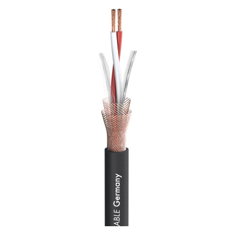 Mikrofonkabel SC-Symbiotic; 2 x 0,20 mm²; PVC Ø 5,20 mm; schwarz