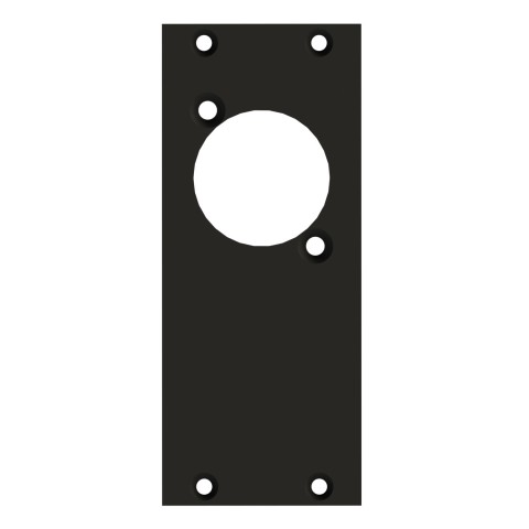 front panel 1 x D-hole, 2 HE, 1 BE for SYS-series, 2.5 mm galvanized steel sheet, colour: anthracite, RAL 7016