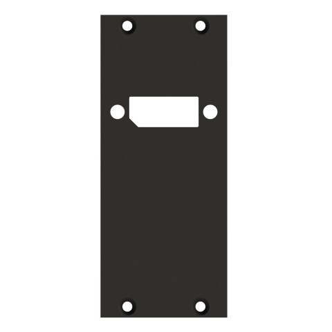 front panel 1 x HDMI/DP, 2 HE, 1 BE for SYS-series, 2.5 mm galvanized steel sheet, colour: anthracite, RAL 7016