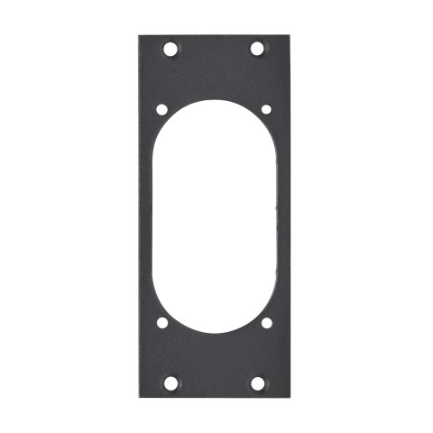 front panel 1 x NAC3PX, 2 HE, 1 BE for SYS-series, 2.5 mm galvanized steel sheet, colour: anthracite, RAL 7016