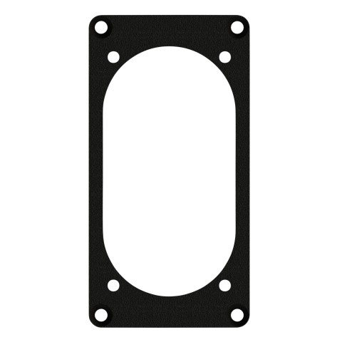 front panel 1 x NAC3PX for suitable 1x NEUTRIK® NAC3PX powerCON® TRUE1, 2.5 mm galvanized steel sheet, colour: anthracite, RAL 7016