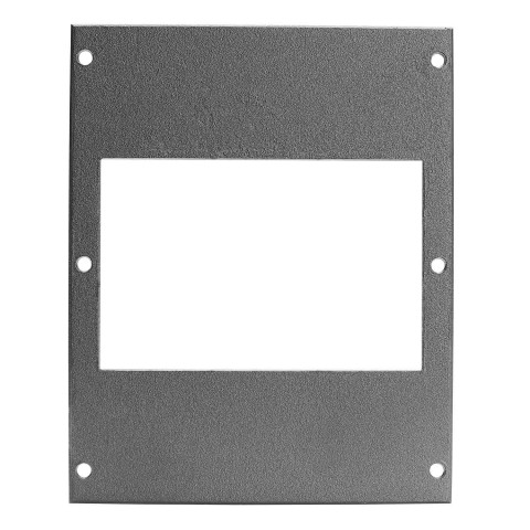 front panel 4 x 17,5mm, 2 HE, 3 BE for SYS-series, Galvanized sheet steel, colour: anthracite, RAL 7016
