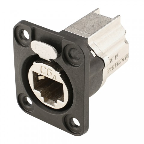 NEUTRIK RJ45 CAT.6A, 8-pole , metal-, Patch-female connector, Type D, black