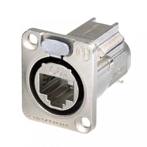 NEUTRIK RJ45 CAT.6A, 8-pole , metal-, IDC-female connector, Type D, nickel coloured