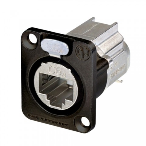NEUTRIK RJ45 CAT.6A, 8-pole , metal-, IDC-female connector, Type D, black