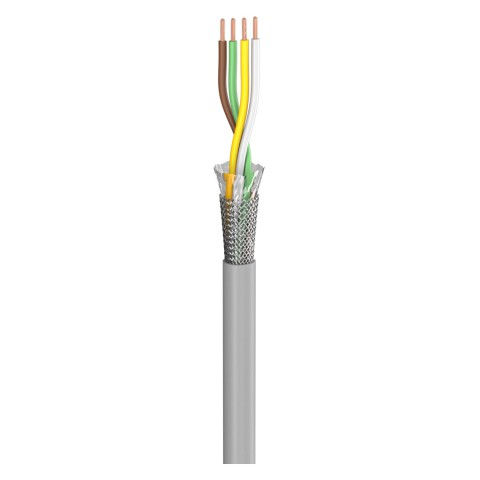 control lead SC-Control Flex; 4 x0,25 mm²; PVC, flame-retardant, Ø 4,70 mm; grey; Eca