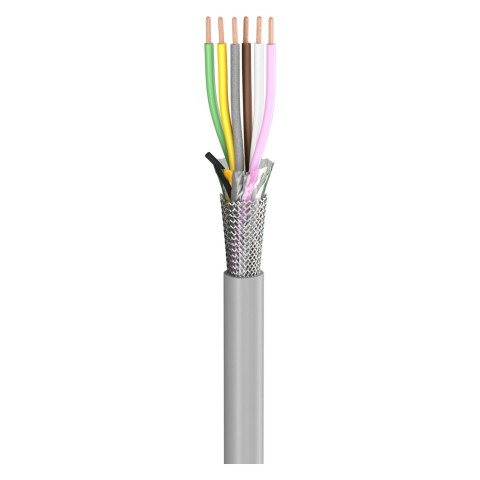 Steuerleitung SC-Control Flex; 6 x0,25 mm²; PVC, flammwidrig, Ø 5,70 mm; grau; Eca