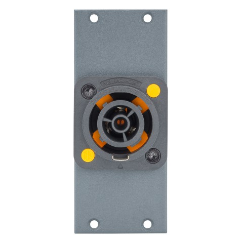 Connector Module powerCON® T1 (NAC3FPX), 2 HE, 1 BE for SYS-series, colour: anthracite, RAL 7016
