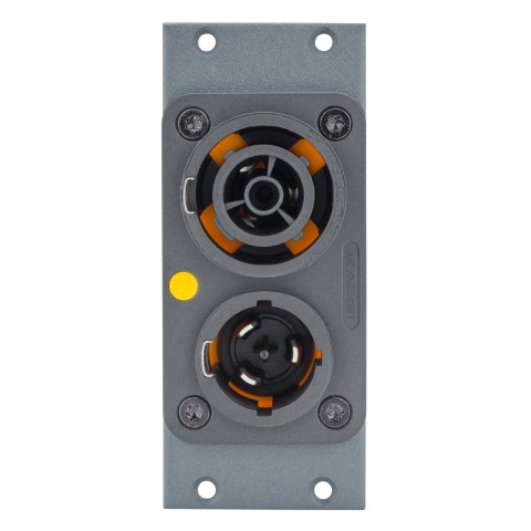 Connector Module powerCON® T1 DUPLEX (NAC3PX), 2 HE, 1 BE for SYS-series, colour: anthracite, RAL 7016