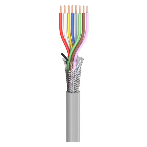 control lead SC-Control Flex; 8 x0,25 mm²; PVC, flame-retardant, Ø 6,30 mm; grey; Eca