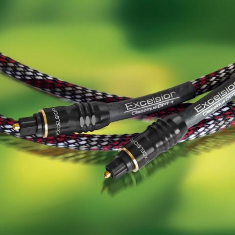 Digital foc Polymer Optische Faser (POF), 1  | Toslink / Toslink, Excelsior