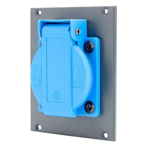 SYSBOXX Steckverbindermodul für SYS Gehäuseserien , 2 HE, 2 BE, eloverzinktes Stahlblech 2.5mm, Farbe: anthrazit RAL 7016 | SYCFB22-SCHA-FP