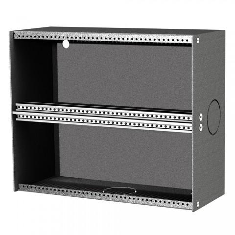 Wandversatzkasten für 12 Module, 4 HE, max 2 x 6 BE,