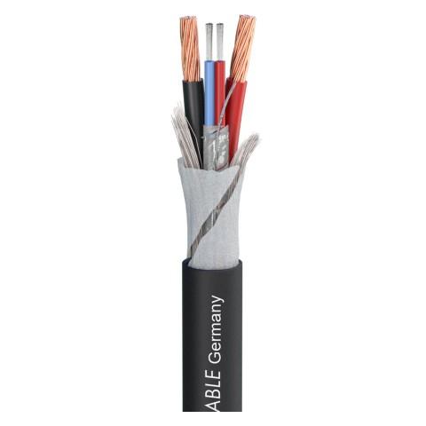 SC-Kolorith 1; Audio: 1 x 2 x 0,35 mm²; Power: 2 x 2,00 mm²; PVC Ø 7,40 mm; schwarz