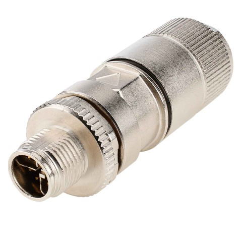 Telegärtner CAT.6a M12x1 8-pol cabel connector, IP67 , 8-pole male connector, straight